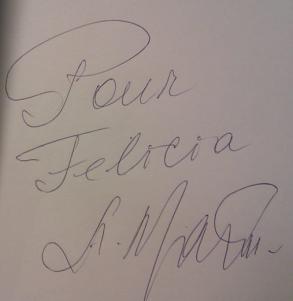 Andrei Makine_autograf