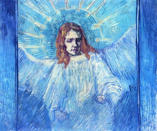 Half Figure of an Angel (after Rembrandt), September 1889. Oil on canvas, 54 x 64