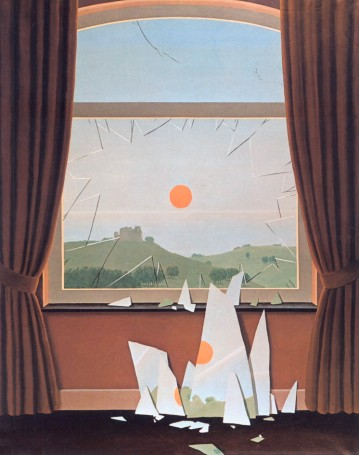 Evening Falls Le Soir qui tombe-Rene Magritte, 1964