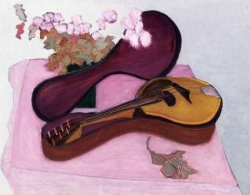 Mandolin with Flowers_ Milton Avery - 1948