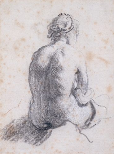 A Study of a Female Nude Seen from the Back_Rembrandt