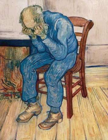 Old man in sorrow_Vincent van Gogh