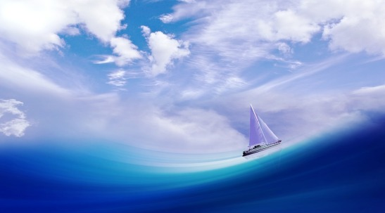sailing boat_sky_wave