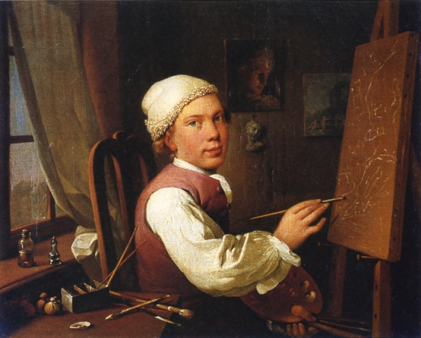 self-portrait-at-the-easel-by-jens-juel