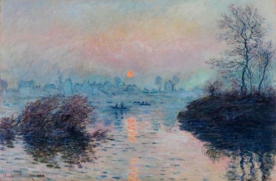 claude-monet-seine-river-sunset-at-lavacourt-winter-effect