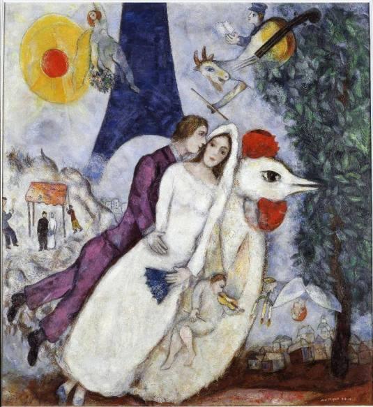 Marc Chagall_Les mariés de la Tour Eiffel