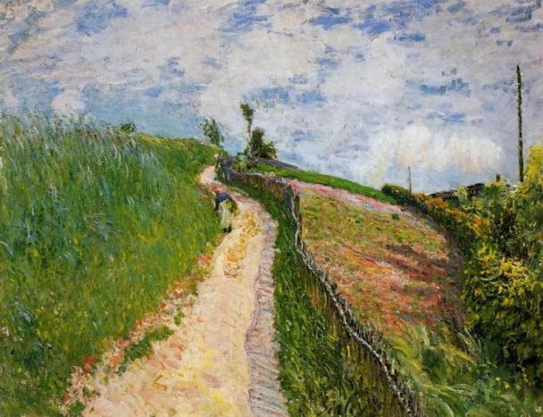 The Hill Path, Ville d Avray - Alfred Sisley